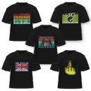 LED t shirts flashing light up glow shirt wholesale