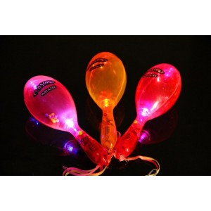 led light up glow flashing maracas toy gift party favor custom personalized imprint printing logo
