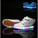 led light up glow neon luminous USB rechargeable shoes sneakers wings kids wholesale custom china factory cheap
