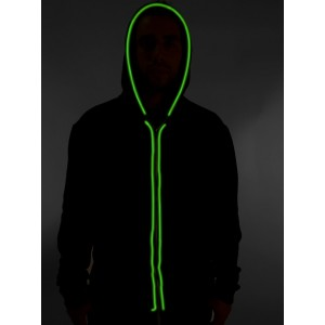 light up neon flashing blinking electroluminescent el wire electric hoodies wholesale custom