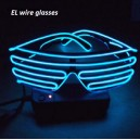 el wires electroluminescent glow light up neon flashing sunglasses shades wholesale custom