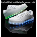 7 color led light up glow neon luminous USB charging running flat shoes sneakers adults men women wholesale custom