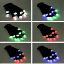 led lighted up glowing flashing rave fingertip gloves wholesale custom
