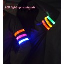 led light up flashing safety running armbands and leg band webbing wholesale logo imprint custom