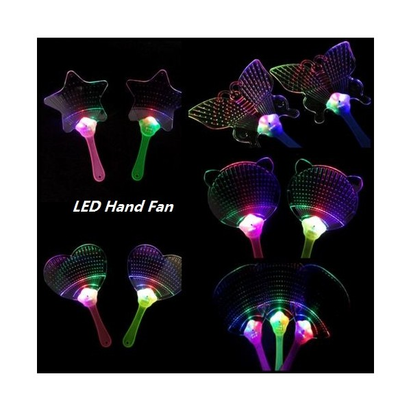 Multicolor led light up flashing hand fan glow stick wand for Led wands wholesale