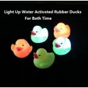 floating water activated led lighted up color changing rubber ducks kids bath toy wholesale imprint logo custom China