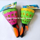 10 inch 25cm giant click and catch clack twin balls games  toys launch pop toss cone shooting  basket wholesale China