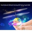 Infrared Induced Hand Altitude Sensing LED RC Mini Crystal Disco Flying Ball Drone Aircraft Hovering Flash Shining Light