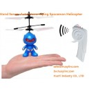 Flying Flash Infrared Spaceman Helicopter Craft Toy 2CH RC Hand Induced Wave Control Auto-Hovering Reaction Wholesale