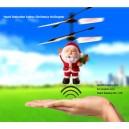 LED Infrared Hand Induction Auto Sensing Hover Father Christmas Helicopter Flyer Kids Toy RC with Controller Wholesale