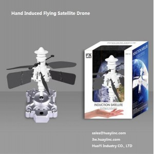 2CH LED Light up Flash Infrared Hand Induced Sensing Hovering Flying Satellite Drone Aircraft Toy RC with Controller Wholesale