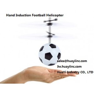 2CH LED Infrared Hand Induction Sensing Hovering Flying Football Helicopter Drone Aircraft Toy RC with Controller Wholesale