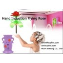 Infrared Hand Induced Sensor Musical Flying Spinning Rose Hover Floating Helicopter with Remote Pedestal Kids Toy Wholesale