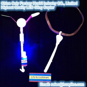 Improved LED Flying Spinning Sling Copters Toy