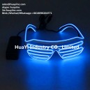 Electroluminescent Sound Activated Neon Sunglasses Shutter Shades Wholesale Custom
