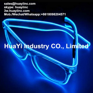 Illuminated Neon Lighted EL Glasses
