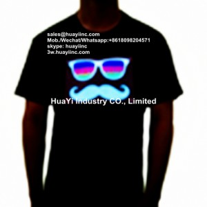 LED EL Advertisement T Shirts
