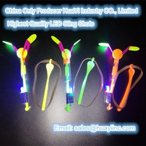 250 feet high flying LED Sling Shots Flyer Toy