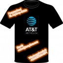 AT & T personalized printed el light up t-shirt