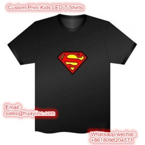 Custom Print Kids LED t shirts