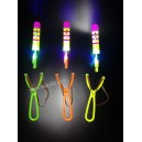 Deluxe LED light up sling shot helicopters toy