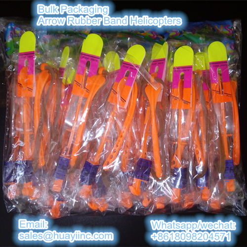 bulk packaging rubber band helicopters toy