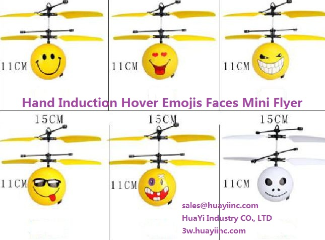 Flying Hand Induction Hover Mini Flyer Emojis faces