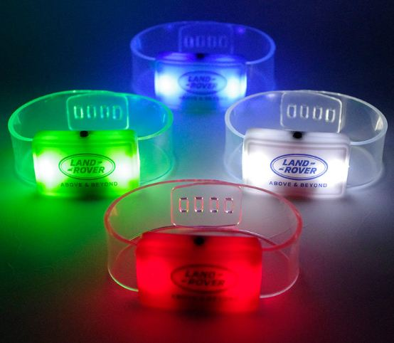 imprinted logos happy love style led lighted bracelets wristbands