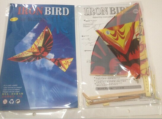 iron bird flying ornithopter toy rubber band powered