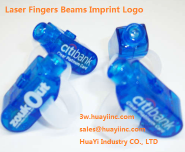 led custom printed logo laser fingers