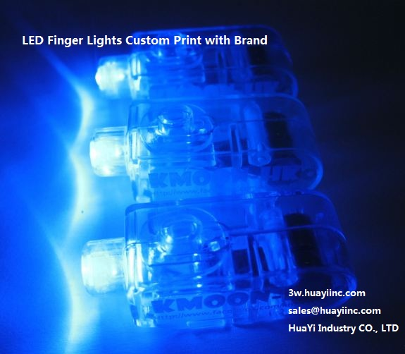 led glow laser fingers lights with logo company name website printed
