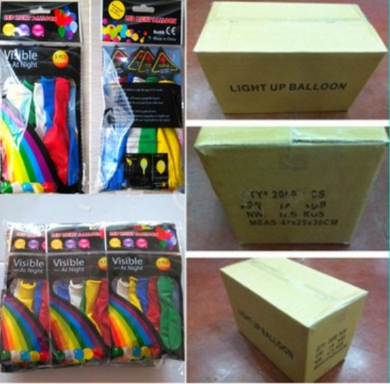 LED light up balloons wholesale 2000pcs per case