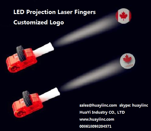 led light up laser fingers light projection customized personal logo