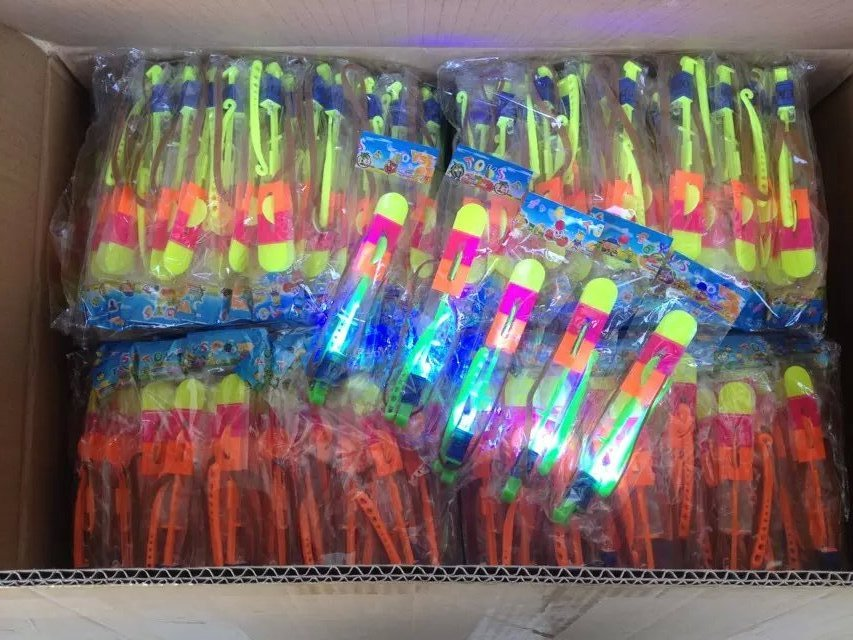 LED strong quality flash copters rockets toy single package