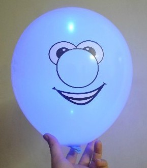 light up balloons logo printing blue color