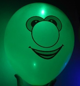light up balloons logo printing green color