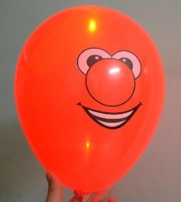 light up balloons logo printing red color