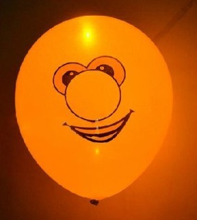 light up balloons logo printing yellow color
