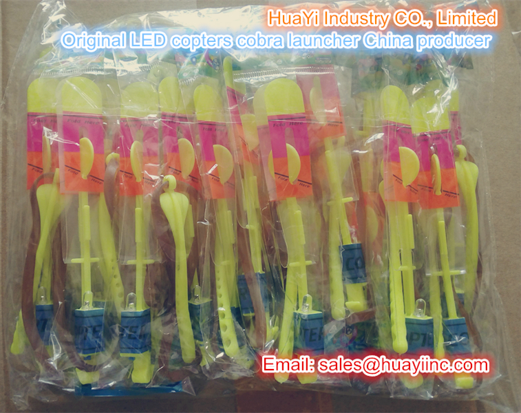 bulk packaging original LED copters toy with cobra padddle launcher