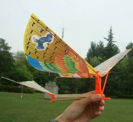 ornithopter toy rubber band powered flying bird 308