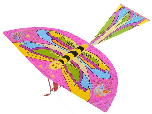 ornithopter toy rubber band powered flying bird 308 dragonfly