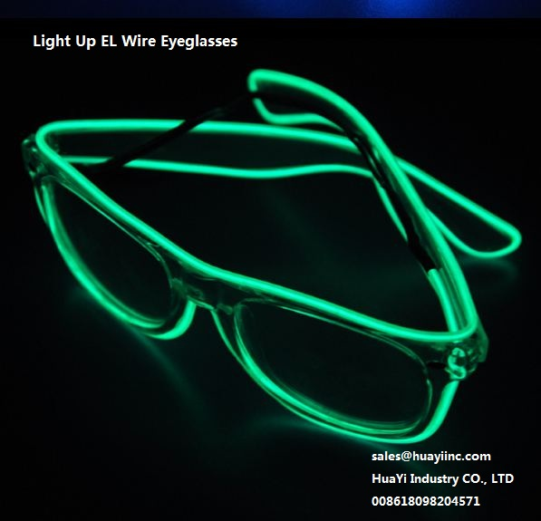 ray ban style light up flashing el wires eyeglasses wholesale