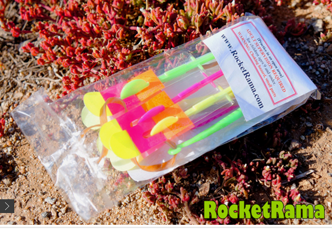 rocket copter RocketRama LED toy night flyer custom