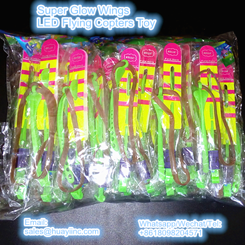 super glow wings LED flying copters toy in bulk packaging