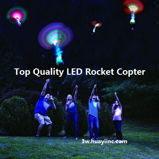 top quality led rockets copters wholesale custom