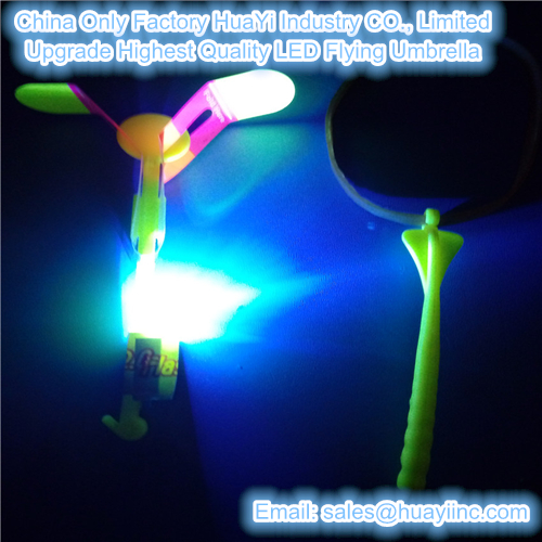 upgrade led fly umbrella toy