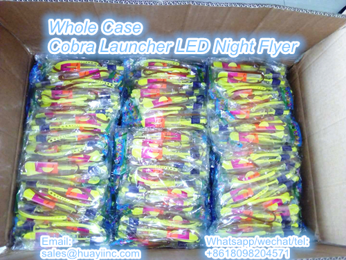 whole case cobra launcher LED night flyer toy